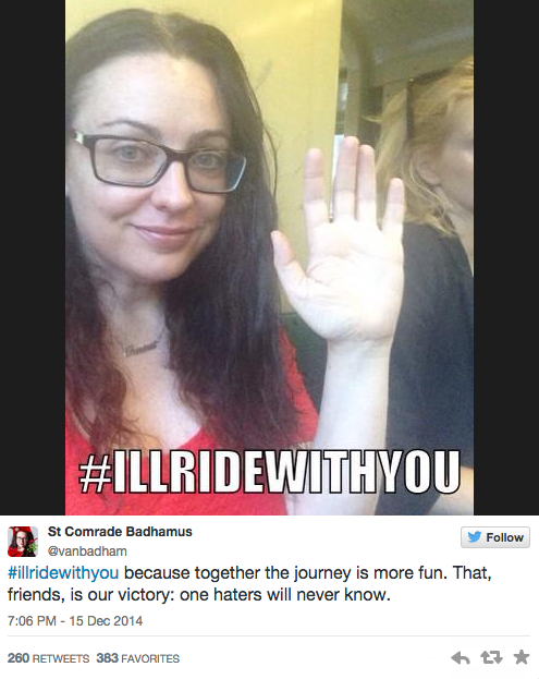 I'll ride with you #illridewithyou
